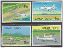 SAMOA, 1973 PLANES 4 MNH - Samoa