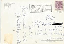 TIMBRO SU CARTOLINA VACANZE A SABAUDIA 1971 - Timbri Generalità