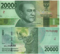 INDONESIA   Attractive.  Newly Issued. 20'000  Rupiah.  2016  UNC - Indonesia