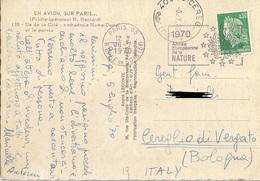 TIMBRO SU CARTOLINA 1970 ANNE EUROPEANNE NATURE - Timbri Generalità