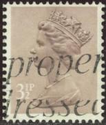 GB Yv. N°1075 - 3p1/2 Brun-rose - Oblitéré - Machin-Ausgaben