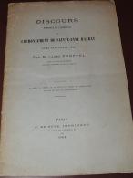 ABBE FREPPEL - Discours Couronnement De Saint-Anne D'Auray - Bretagne  1868 - Livres, BD, Revues