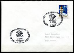 """Germany 1987 Sonderbeleg/Cover """"Indianer,Karl-May"""" M.Mi.Nr.1314 U.SST""""2360 Bad Segeberg-Karl-May-Spiele""""1 Beleg"""