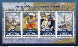 TOGO 2016 - Cezanne, Gauguin, De Toulouse-Lautrec, Signac. Official Issue.