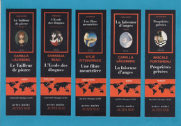 5 Marque Page. Bookmark.    Editions ACTES SUD. - Marque-Pages