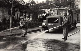 Firemen,firefighters,activity,Kocani,Macedonia,truck - Firemen