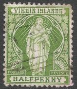 British Virgin Islands. 1899 St Ursula. ½d Used. SG 43 - British Virgin Islands
