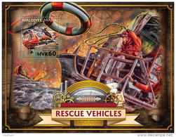 MALDIVES 2016 - Rescue Vehicles, Helicopters S/S Official Issue