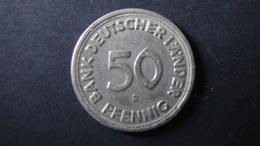 """Germany - 1949 - 50 Pfennig - Bank Deutscher Länder - Mintmark """"D"""" - Munich - KM 104 - VF - Look Scans - [ 7] 1949-… : FRG - Fed. Rep. Germany"""