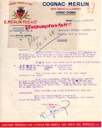 16 - JARNAC - COGNAC - FACTURE COGNAC MERLIN FILS- 1949 - France