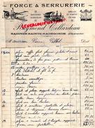 16 - BAIGNES SAINTE RADEGONDE- BELLE FACTURE RAYMOND COLLARDEAU- FORGE SERRURERIE- FORGERON- 1934 - France