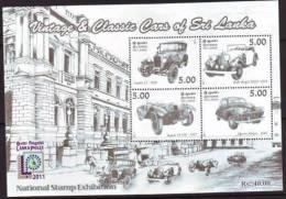 2011 SRI LANKA Ms CLASSICAL CAR (AUTOS) MINT 1V MNH - Sri Lanka (Ceylon) (1948-...)