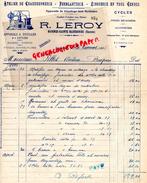 16 - BAIGNES SAINTE RADEGONDE- FACTURE R. LEROY- ATELIER CHAUDRONNERIE- FERBLANTERIE- ZINGUERIE-DISTILLERIE-1935 - France
