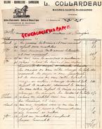 16 - BAIGNES SAINTE RADEGONDE- FACTURE  L. COLLARDEAU - SELLERIE  BOURRELLERIE- CARROSSERIE-1934 - France