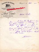 16 - BLANZAC - BELLE FACTURE CHARCUTERIE DES GOURMETS- ABEL VIENT - COCHON PORC- CHARCUTIER- 1910 - France