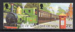 GB ISLE OF MAN IOM - 1998 STEAM RAILWAY ANNIVERSARY £1.25 STAMP PAIR EX SG MS807 FINE MNH ** - Isle Of Man
