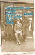 Cpp 33 BRANNE ( à Confirmer ) Bicyclette Et  Portraits Devant L'hotel Café Restaurant  T CHARLES TEL 46 91 N° 11 Rue ... - France