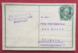 REPUBBLICA CECA  CORRESPONDENZ - KARTE  AUSTRIA 5 H DA  WAGSTADT  BÍLOVEC A LIPSIA LEIPZIG IN DATA 7/5/1911 - Repubblica Ceca