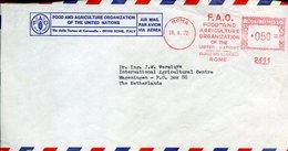 18301 Italia, Red Meter/freistempel/ema/affrancatura Rossa/roma 1972 FAO Food Agricolture Org.,circuled Cover