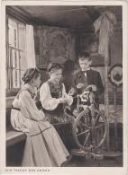 AK - Tracht Der Ahnen -Kinder Am Spinnrad - 1940 - Szenen & Landschaften