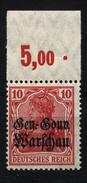 Deutsche Post In Polen,10c,OR P,xx,gep. - Besetzungen 1914-18