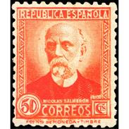 ES671STV-LTV***671STAN.Spain.Esgane.PERSONAJES ILUSTRES.NICOLAS SALMERON. 1931 (Ed 671**) - Nuevos