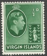 British Virgin Islands. 1938-47 KGVI. ½d MH. SG 110a - British Virgin Islands