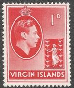 British Virgin Islands. 1938-47 KGVI. 1d MH. SG 111a - British Virgin Islands