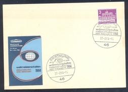 Germany Deutschland 1964 Card; Figure Skating; Eiskunstlaufen; Patinage Artistique; Dortmund Westfalenhalle