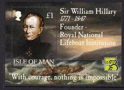 GB ISLE OF MAN IOM - 1999 WILLIAM HILLARY ROYAL NATIONAL LIFEBOAT INSTITUTION RNLI MS SG MS839 FINE MNH ** - Isle Of Man