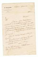 Lettre De Mre BERGER Notaire à Bourganeuf ( Creuse) à Mr. Jean FAYETTE Maçon à St Junien En 1911 ( Fr37) - Manuscrits
