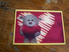 3D Postcards Teddy Bear Heart - Jeux Et Jouets