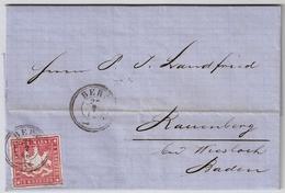 1866, Berg, Seltener Brief , #7310 - Wuerttemberg