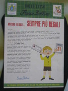 Z5 ITALIA FILATELIA RIVISTA FRANCO BOLLINO CLUB X RAGAZZI BOLLETTINO - 1959 N. 2 REGALI FALCONERIA ROMANIA LAOS - Italiane (dal 1941)