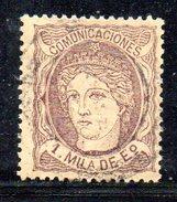 XP2322 - SPAGNA 1870 ,  Il N. 102 Usato - 1870-72 Reggenza