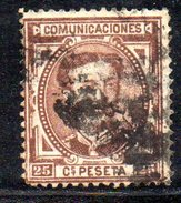 XP2324 - SPAGNA 1876 ,  Alfonso XII  Il  25  Centesimi Usato - 1875-1882 Regno: Alfonso XII