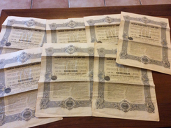 Lot De 7 Actions Ou Titres Russie 1909 - Shareholdings