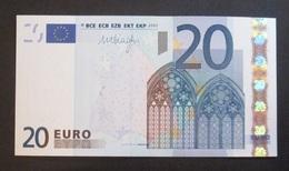 """20 Euro 2002 """"E"""" SLOVAKIA DRAGHI R031 F1 UNC - EURO"""