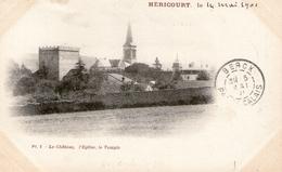(FC) CPA Precurseur Hericourt  Chateau Eglise Temple 1901 (bon Etat) - Autres Communes