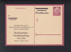 Dt. Reich GSK Vordruck Deutsche Sammler Gau Schwaben - Germania