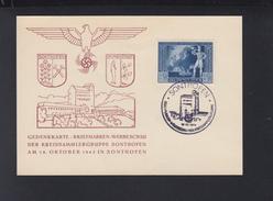 Dt. Reich Gedenkkarte Sonthofen 1942 - Briefe U. Dokumente