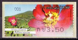 Israel - ATM Mi.Nr. 91 - Postfrisch MNH - Blumen Flowers Pfingstrose - Franking Labels