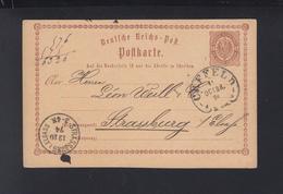 Dt. Reich GSK 1874 Crefeld Nach Stassburg - Allemagne