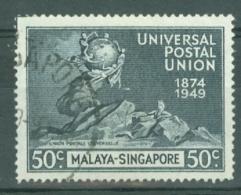 Singapore: 1949   U.P.U.  SG36   50c   Used - Singapour (...-1959)