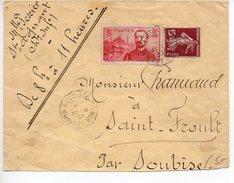 Lettre : Surtaxe Pierre Loti + Semeuse - Convoyeur 'Le Chapus à Rochefort Sur Mer' - Postmark Collection (Covers)