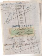 Suisse Mandat à Ordre De 1865 Avec Estampille 10 Centimes Verte Canton De Genève.N D .Complet Tb état. - Fiscaux