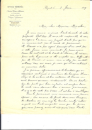 Ref 10/ Tunisie, Bizerte, Achats Ventes Et Gérances, 1899 - Invoices & Commercial Documents
