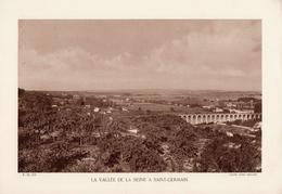 YVELINES, LA VALLEE DE LA SEINE A SAINT-GERMAIN,  Planche Densité = 200g, Format 20 X 29 Cm, (André Bernard) - Géographie