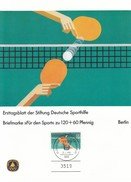 TABLE TENNIS-PING PONG-TISCHTENNIS-TENNIS DE TABLE-TENNIS TAVOLO, W. Germany, 1985, FDC/Special Stamp + Postmark!