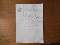 TRITH SAINT LEGER LE 18 MARS 1910 M. ROBYN PRUDENT VAN OVERLOVP LOUE MAISON DE BRASSEUR PRIX DE LA BIERE 19 FRANCS/T - Manuscrits